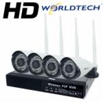 ซื้อส่ง Worldtech กล้องวงจรปิดไร้สาย NVR-KIT HD-1MP 4CH (ขายส่ง3ชิ้นขึ้นไป/สมาชิกdropship)