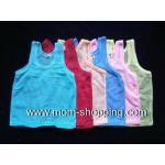 เสื้อกล้ามเด็กแบบมีรู แพ็ค 6 ตัว ไซด์ S (คละสี)