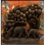 ตอไม้แกะสลัก ช้าง