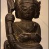 ไม้แกะสลักเทวดานัตดีดพิณ ศิลปะพม่า