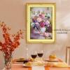 งานปักริบบิ้นรูปแจกันดอกไฮเดรนเยีย by Easy DIY ครอสติสคริสตัล