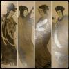ภาพถ่ายเก่า-นางในวรรณคดีจีน ขนาดโปสการ์ด ชุดสี่ใบ