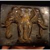 กล่องไม้เก่าเล็ก ช้างสามเศียร