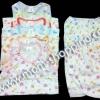 เสื้อกล้าม+กางเกง ผ้า Cotton คละสี ไซด์ L (แพ็ค 3 ชุด)