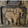 แผ่นไม้แกะสลัก ลายช้าง (1)