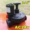 "Solenoid valve AC24v ระบบน้ำ 3/4""นิ้ว"