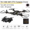 TKKJ TK116W 720P Camera Wifi FPV ล๊อคความสูง+G-sensor+ขีดเส้นบินตามมือ