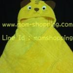 ผ้าห่อตัว/ผ้าห่ม มีหมวก ลายแมวเหมียว ไซด์ 30*40 นิ้ว (แพ็ค 1 ชิ้น)