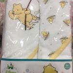 เซ็ตผ้าห่อตัว (เซ็ต 2 ผืน)ขนาด 30x30. นิ้ว ลายลิขสิทธิ์แท้ หมีพูห์ (เนื้อผ้านุ่มมากๆ )