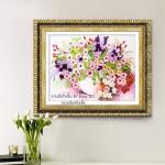 งานปักริบบิ้นรูปดอกเดซี่หลากสี by Easy DIY ครอสติสคริสตัล