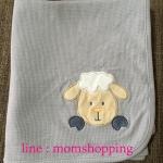 ผ้าห่ม/ผ้าห่อตัว (ไม่มีหมวก) ผ้า cotton ลายแกะ (เกรดงานห้าง ส่งออกต่างประเทศ ) ขนาด 75*102 ซม