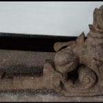 ไม้แกะสลัก สิงห์ประดับหัวเกวียน ศิลปะพม่า