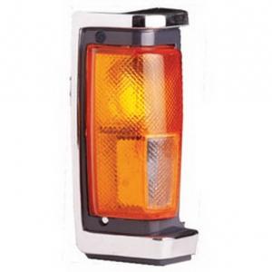 03-324 R/L Chrome/Black Side Direction Indicator, Front Position Lamp, Chrome/Black