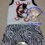 ชุดเสื้อ+กางเกงก้นบาน มีหาง สีกรมท่า ลายม้าลาย ไซด์ M thumbnail 1