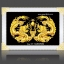 อุปกรณ์งานฝีมือ DIY ครอสติสคริสตัลรูปมังกรคู่บันดาลโชคลาภ thumbnail 1