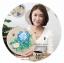 งานปักริบบิ้นดอกโบตั๋นสีน้ำเงินพร้อมเฟรมไม้ By Easy DIY ครอสติสคริสตัล thumbnail 2