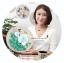 งานปักริบบิ้นดอกโบตั๋นสีน้ำขาวพร้อมเฟรมไม้ By Easy DIY ครอสติสคริสตัล thumbnail 2