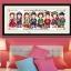 อุปกรณ์งานฝีมือ DIY ครอสติสคริสตัลรูปการ์ตูนคู่รักเกาหลี 4 ชุด 4 สไตล์ thumbnail 1