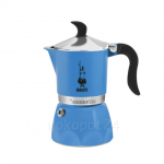 Bialetti หม้อต้มกาแฟ moka pot ขนาด 3 Cup รุ่น Fiammetta azzurra
