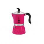 Bialetti หม้อต้มกาแฟ moka pot ขนาด 3 Cup รุ่น Fiammetta Fucsia