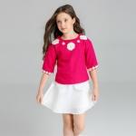 ID509- เสื้อ+กระโปรง 6 ชุด /แพค ไซส์ 100-150