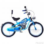 """จักรยานฮาเล่ย์16"""" (ตัวถังชุบสีเมทัคริล, ล้อสีขอบอลูมิเนียมซี่ลวดใหญ่เลส, เบาะหนังมีที่พิง, บังโคลนเลส)"""