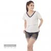 เสื้อให้นม Phrimz : Jasmine Breastfeeding Top - Gray