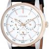 นาฬิกาข้อมือผู้ชาย Citizen Eco-Drive รุ่น BU2016-00A, Multi Dial 100m Elegant Watch