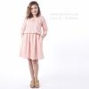 ชุดให้นม Phrimz : Kiyomi Breastfeeding Dress - Pink สีชมพู