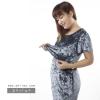 ชุดให้นม Phrimz : Velvet Breastfeeding Dress - Gray สีเทา