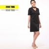 ชุดให้นม Phrimz : Cedra Breastfeeding Dress - Black