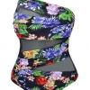 ชุดว่ายน้ำวันพีชคนอ้วน พร้อมส่ง :ชุดว่ายน้ำไซส์ใหญ่สีดำแต่งลายดอกไม้สีสันสดใสแบบเก๋ sexyมากๆจ้า:รอบอก36-42นิ้ว เอว32-40นิ้ว สะโพก38-46นิ้ว