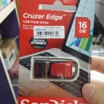 usb flashdrive sandisk 16 gb cruzer edge ดำแดง