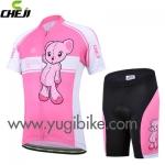 ชุดปั่นจักรยานเด็ก CHEJI หมี ชมพู