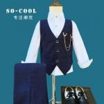 ST73-เสื้อกั๊ก+กางเกง+สายคล้อง 6 ชุด /แพค ไซส์ 90-140