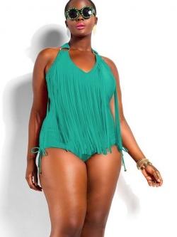 ชุดว่ายน้ำคนอ้วน วันพีชไซส์ใหญ่พร้อมส่ง :ชุดว่ายน้ำแฟชั่นสีเขียวแต่งพู่ผูกคอสีสันสดใสแบบสวย sexy มากๆจ้า:รอบอก40-50นิ้ว เอว38-48นิ้ว สะโพก40-50นิ้ว