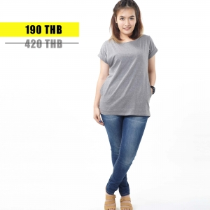 เสื้อให้นม Phrimz : Franki Breastfeeding Top - Dark Gray