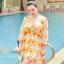ชุดว่ายน้ำคนอ้วน พร้อมส่ง :ชุดว่ายน้ำไซส์ใหญ่สีขาวแต่งลายดอกไม้สีเหลือง set 3ชิ้นมี บรา กางเกงขาสั้น และเสื้อคลุมเว้าไหล่แบบเก๋ น่ารักมากๆจ้า:รายละเอียดไซส์คลิกเลยจ้า thumbnail 5