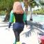 ชุดว่ายน้ำคนอ้วน พร้อมส่ง :ชุดว่ายน้ำไซส์ใหญ่แฟชั่นดำแต่งสีสันสดใส set 3 ชิ้นมีเสื้อแขนยาว บิกินี่ และกางเกงขายาวติดกางเกงขาสั้นด้านนอก แบบน่ารักมากๆจ้า:รายละเอียดไซส์คลิกเลยจ้า thumbnail 7