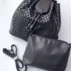 กระเป๋าเป้ผู้หญิง กระเป๋าสะพายหลังแฟชั่น เป้รู [สีดำ]
