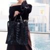 กระเป๋าสะพายแฟชั่น กระเป๋าสะพายข้างผู้หญิง Bao Bao 10*10 NoLogo [สีดำ]