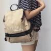 กระเป๋าเป้ผู้หญิง กระเป๋าสะพายหลังแฟชั่น เป้ BIG Bag [สีเบจ]