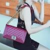 กระเป๋าสะพายแฟชั่น กระเป๋าสะพายข้างผู้หญิง CN คาเวียร์ 10 นิ้ว [สีแดง]