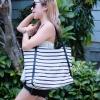 กระเป๋าสะพายแฟชั่น กระเป๋าสะพายข้างผู้หญิง Shopping bag [สีขาว]
