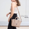 กระเป๋าสะพายแฟชั่น กระเป๋าสะพายข้างผู้หญิง ซีลีนคลาสสิค (CELINE CLASSIC) อะไหล่เงิน [สีครีม]