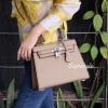 กระเป๋าสะพายแฟชั่น กระเป๋าสะพายข้างผู้หญิง Kelly Pu 25 cm [สีดำ]