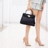 กระเป๋าครัช กระเป๋าถือ Kelly PU [สีดำ]