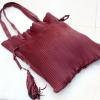 กระเป๋าสะพายแฟชั่น กระเป๋าสะพายข้างผู้หญิง สะพายข้างอัดพีท [สีแดง]