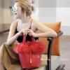 กระเป๋าสะพายแฟชั่น กระเป๋าสะพายข้างผู้หญิง Picotin เฟรอ [สีแดง]