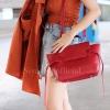 กระเป๋าสะพายแฟชั่น กระเป๋าสะพายข้างผู้หญิง Belt Bag [สีแดง]